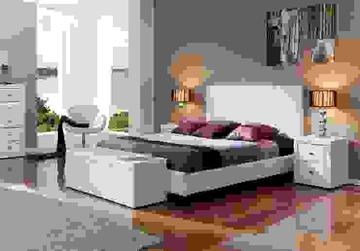 Cama Tapizada Moderna Loup Ámbar Muebles DormitoriosCamas y cabeceros