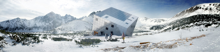 SUSTAINABLE PASSIVE MOUNTAIN HUT IN THE HIGH TATRAS Modern houses by ATELIER 8000 Modern