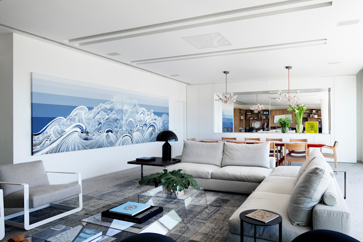 Mirante House Salas de estar modernas por Gisele Taranto Arquitetura Moderno
