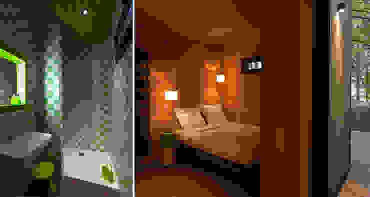 LES CABANES DE SALAGNAC Chambre moderne par AGENCE APOLLINE TERRIER Moderne