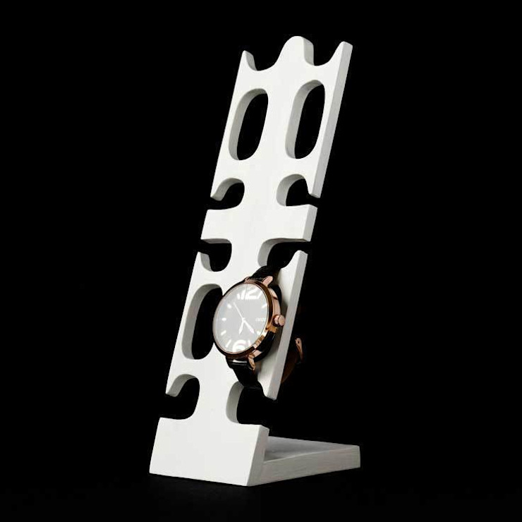 watch stand for 4 watches white 27 cm timepiece stand by Alkita GmbH