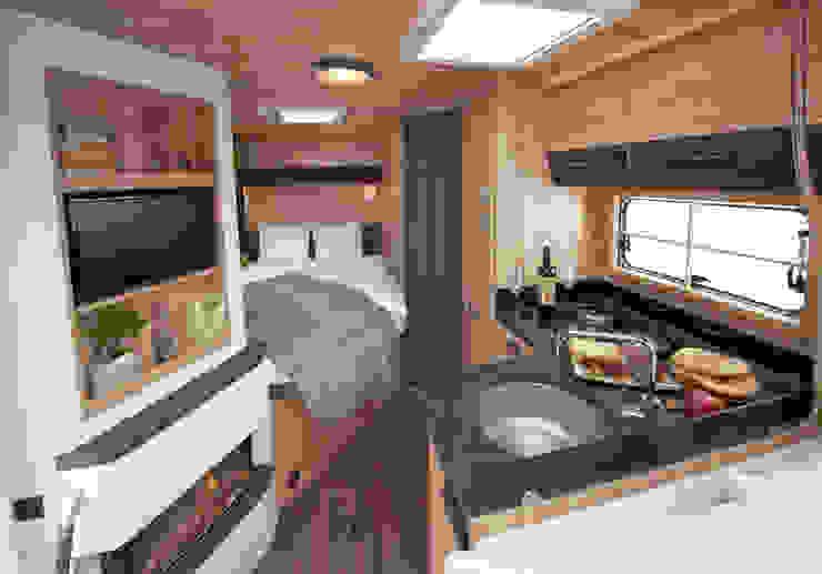 Chalet - Mobil von Eura Mobil Rustikale Küchen von Nadine Kümmel Design Rustikal