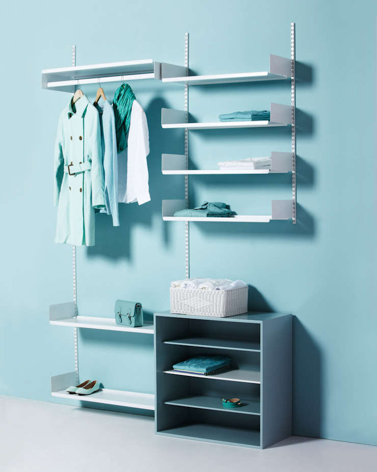 FLOATING SHELVING_OPEN DRESSROOM SOLUTION: THE THING FACTORY 의 현대 ,모던