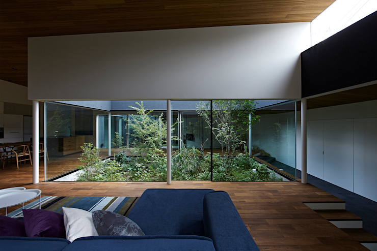 House in Higashimurayama Modern living room by 石井秀樹建築設計事務所 Modern