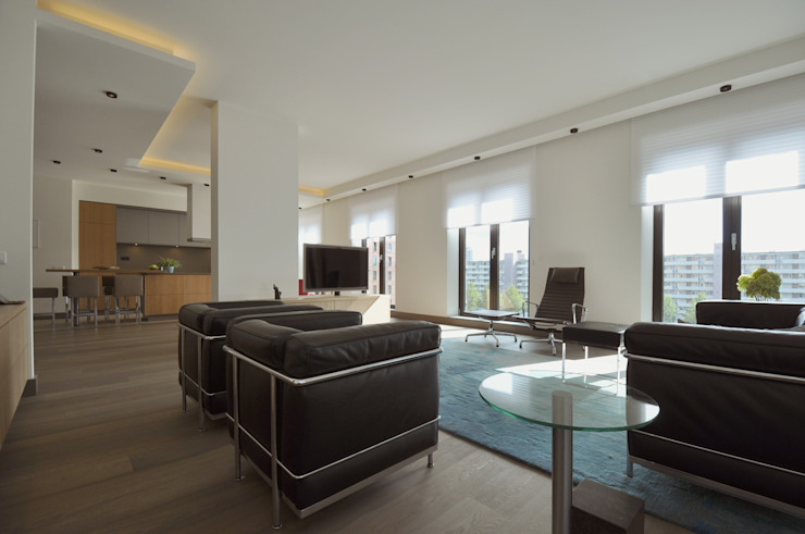 Appartement Amsterdam Minimalistische woonkamers van Bobarchitectuur Minimalistisch