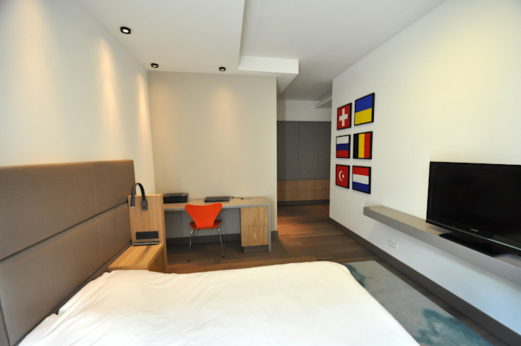 Appartement Amsterdam Minimalistische slaapkamers van Bobarchitectuur Minimalistisch