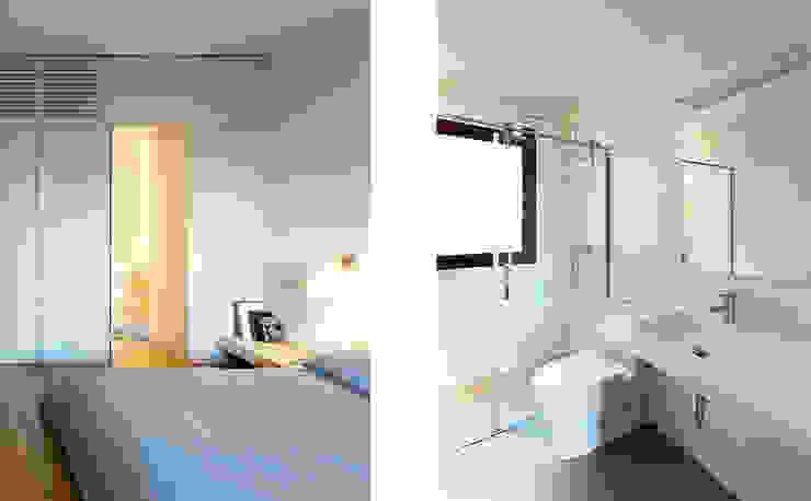 Dormitorio y baño Dormitorios de estilo moderno de ACABADOMATE Moderno