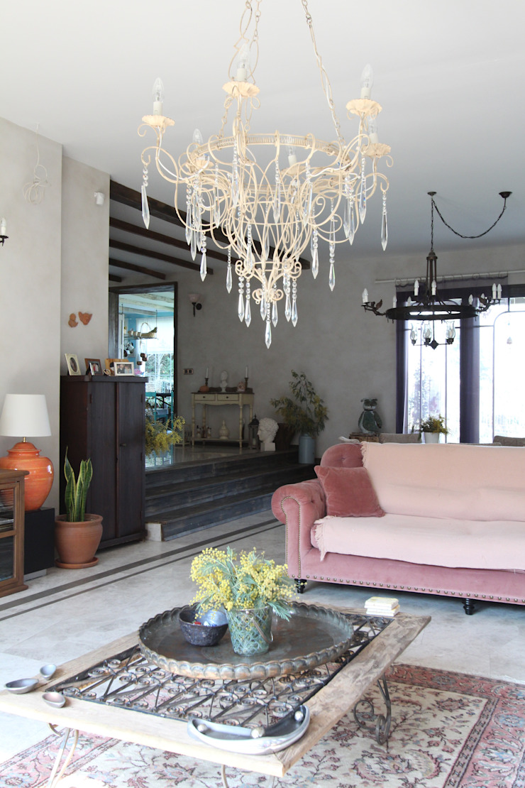 Provence Villa in İstanbul Country style living room by Orkun İndere Interiors Country