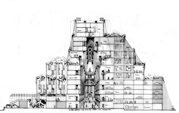 La Pétite Cathedrale de Ricardo Bofill Taller de Arquitectura