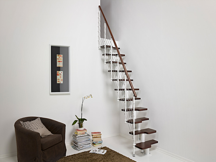 Stairs for small spaces Fontanot Ingresso, Corridoio & ScaleScale