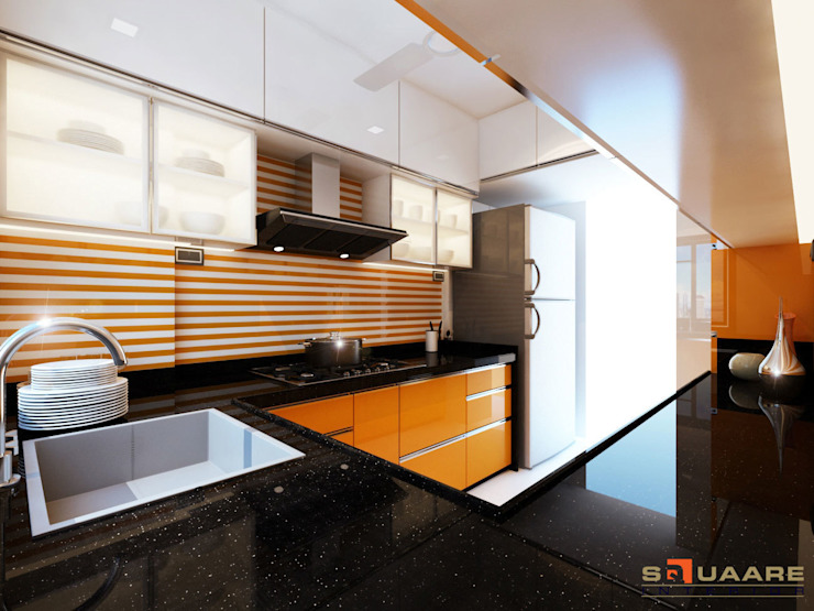 Kitchen units by Squaare Interior,