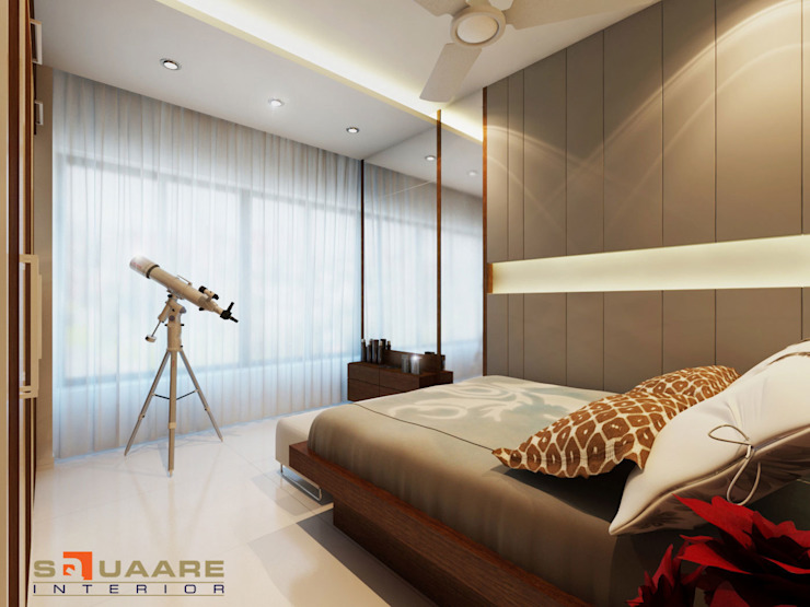 Bedroom: modern  by Squaare Interior,Modern
