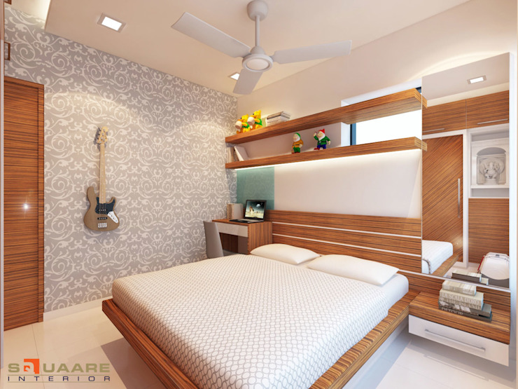 Second Bedroom: modern  by Squaare Interior,Modern