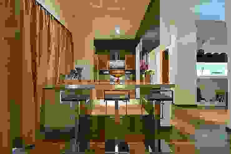 kitchen area shahen mistry architects Modern Houses