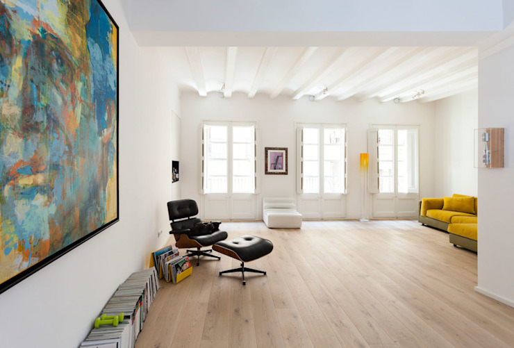 Salón Casas modernas de ACABADOMATE Moderno