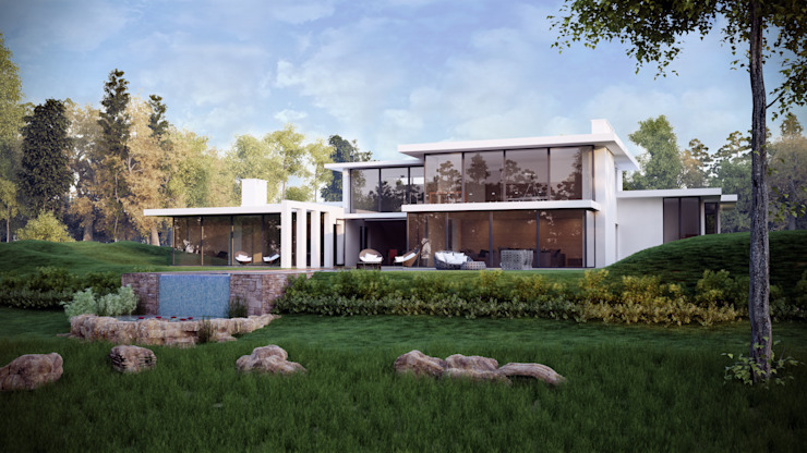 Riverside, Hale Minimalist houses by Tsiantar Architects Limited Minimalist