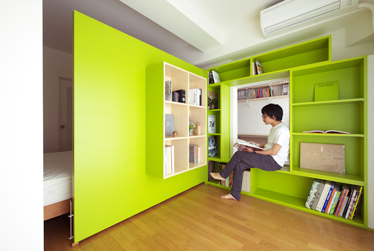 SWITCH apartment YUKO SHIBATA ARCHITECTS モダンデザインの 書斎