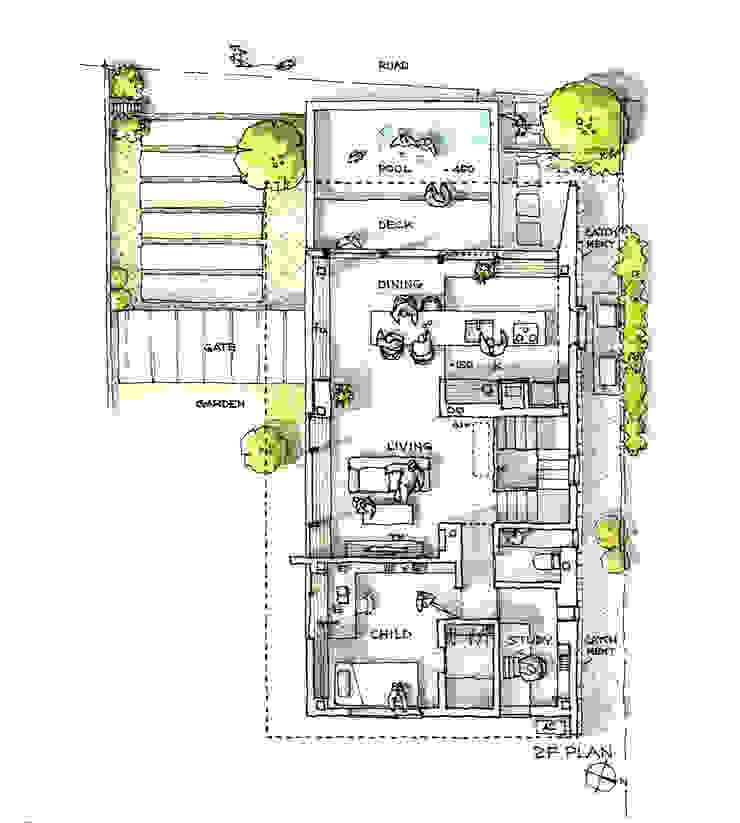 石神井の家 Pioggia e Sole 家 の スタジオ・アーキファーム