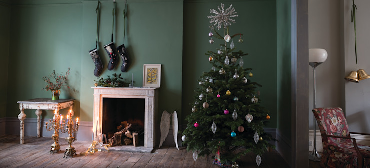 Christmas '14 Farrow & Ball Salas de estar campestres