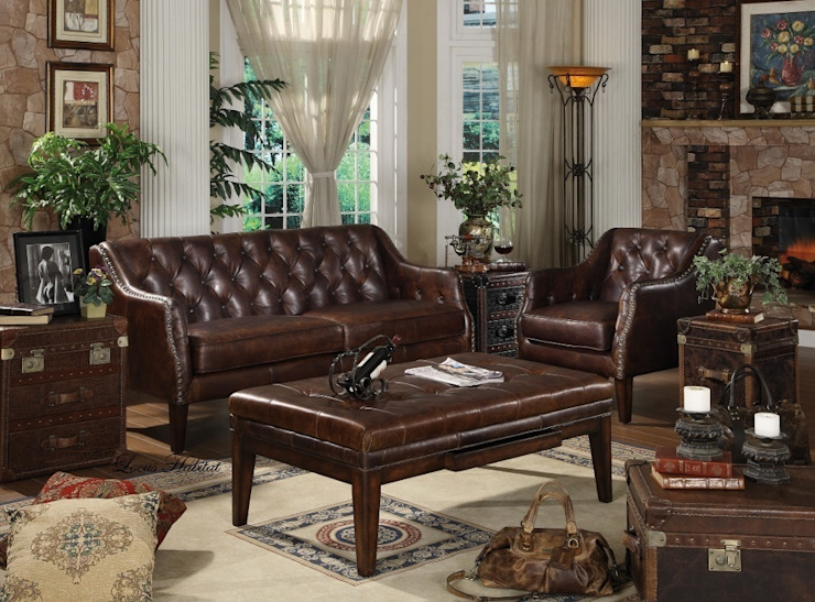 Leather Chesterfield Sofa by Locus Habitat Classic