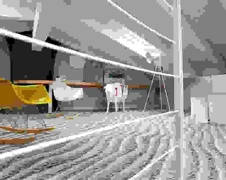 Soppalco camera figlio Stanza dei bambini moderna di Studio d'Architettura MIRKO VARISCHI Moderno