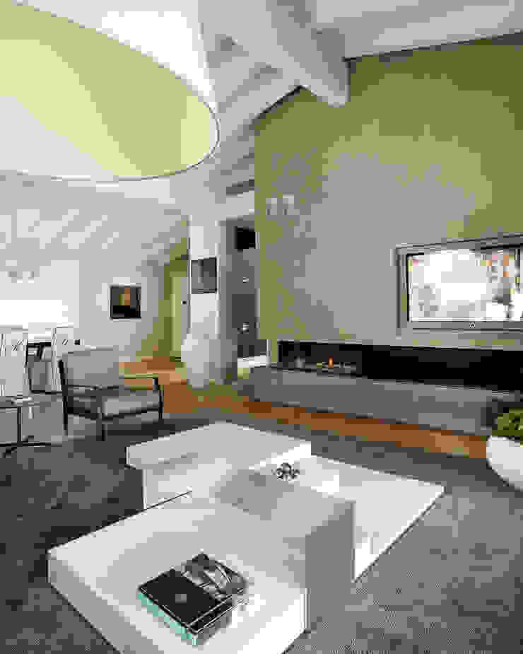 Living Soggiorno moderno di Studio d'Architettura MIRKO VARISCHI Moderno
