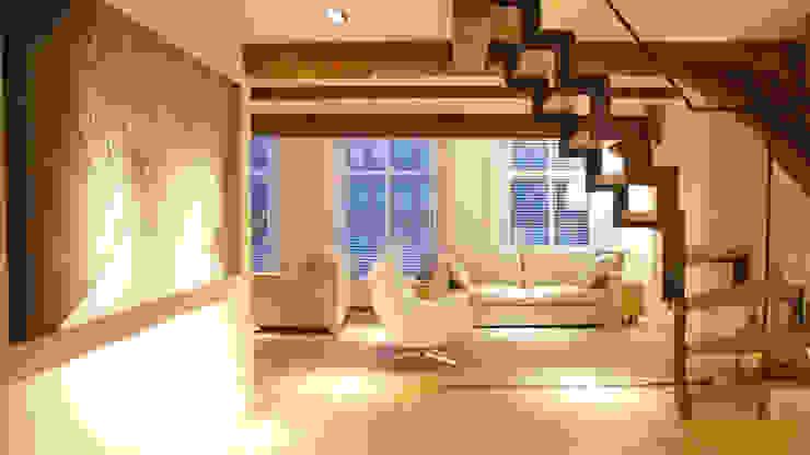 Residential Canal Side Moderne woonkamers van Studio Mariska Jagt Modern