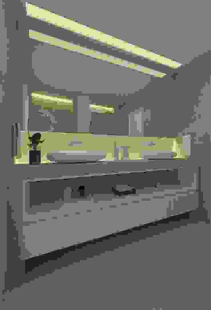 Beach Flat Modern bathroom by Robson Martins Interior Design Modern