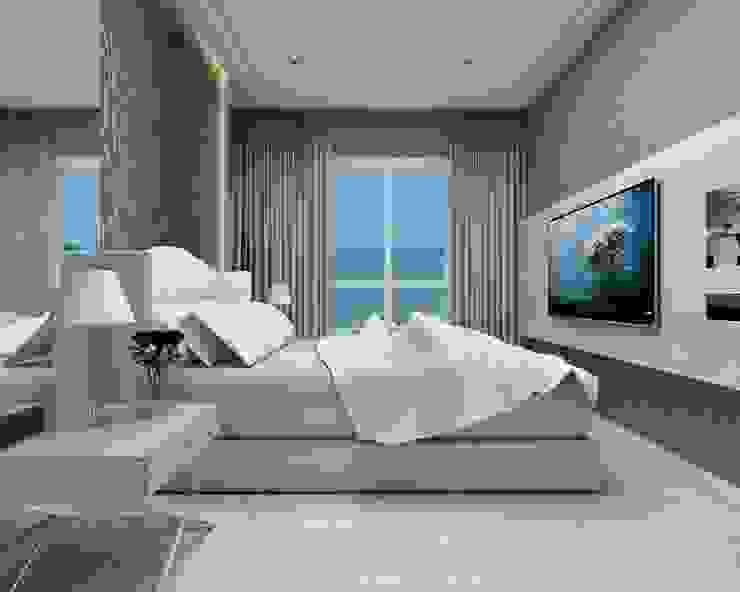 Beach Flat Modern style bedroom by Robson Martins Interior Design Modern