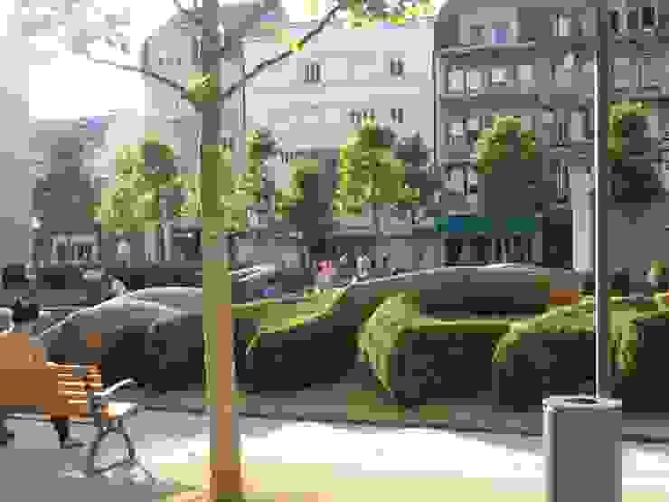 Place de la Résistance, Esch-sur-Alzette, Luxemburg Ausgefallener Garten von Kamel Louafi Landschaftsarchitekten Ausgefallen