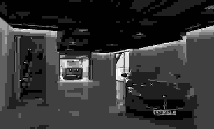 Garage Modern garage/shed by homify Modern