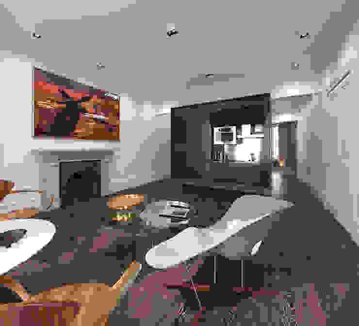 Private Living Room Salas de estar modernas por homify Moderno