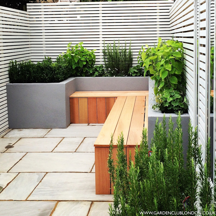 Small back garden design by homify Modern