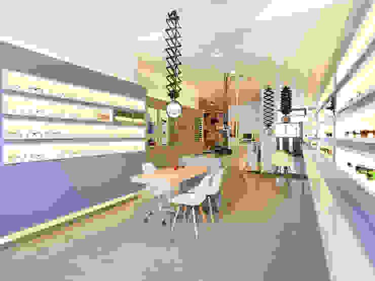 S´OPTICA Espacios comerciales de estilo moderno de margarotger interiorisme Moderno