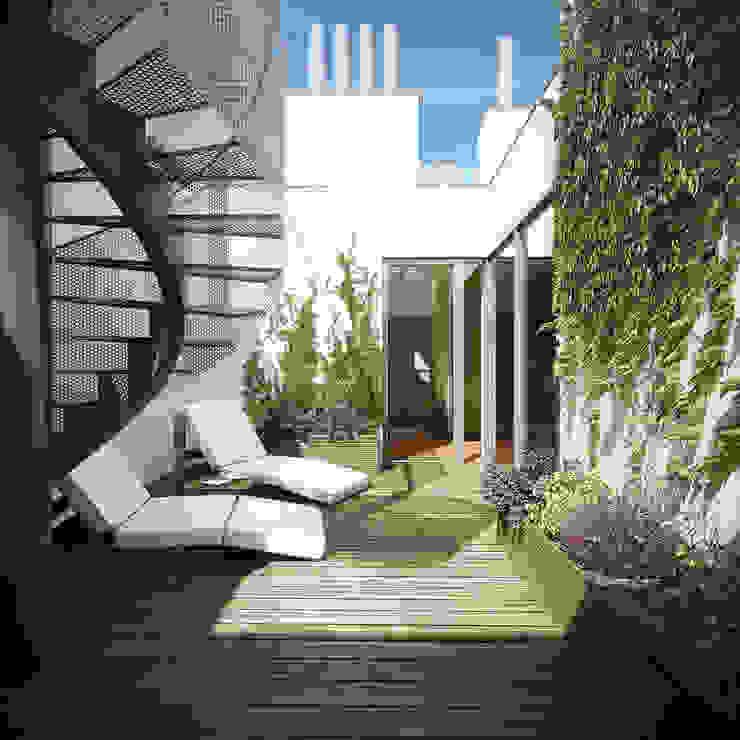 RasumofSKY Gardens - A rooftop project Moderner Balkon, Veranda & Terrasse von Hofmann Architekten ZT GmbH Modern