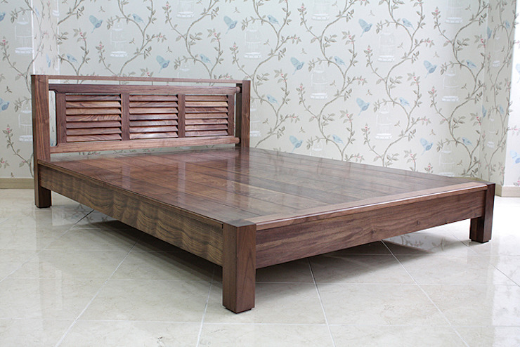 침대: 브라운스토리의 현대 ,모던