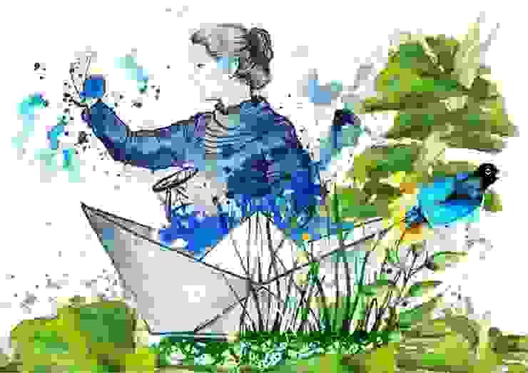 'Healing The World' mural for <q>HEXAGON Ortho</q> Modern Çalışma Odası Gamze Yalçın Studio Modern
