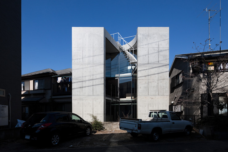 House-O モダンな 家 の 株式会社 大藪元宏建築研究所 モダン