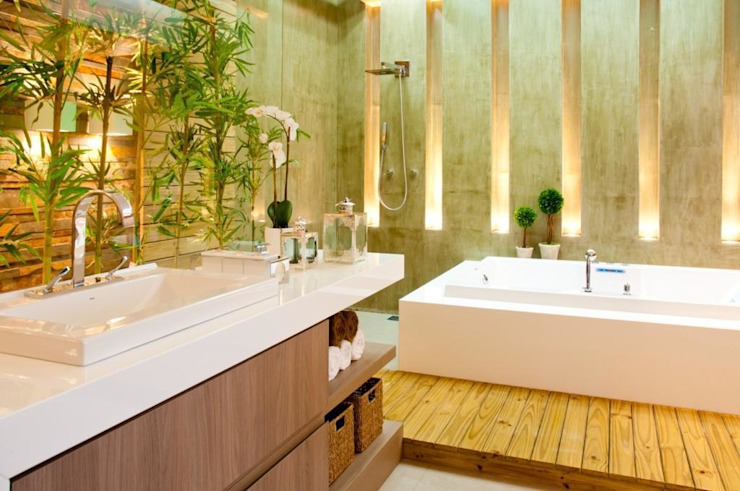 Baños de estilo moderno de Cristine V. Angelo Boing e Fernanda Carlin da Silva Moderno