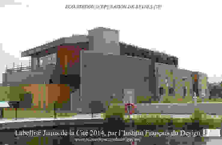 Eco-construction d'une usine à faible impact environnementale à Beynes Espaces de bureaux industriels par AR Architectes Industriel