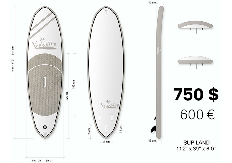 Yeah SUP – the low cost stand up paddle board di Ariedi&Moretto Moderno