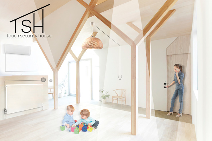 Came Design Award – Touch Security House, una casa a portata di mano:  in stile industriale di Ariedi&Moretto, Industrial