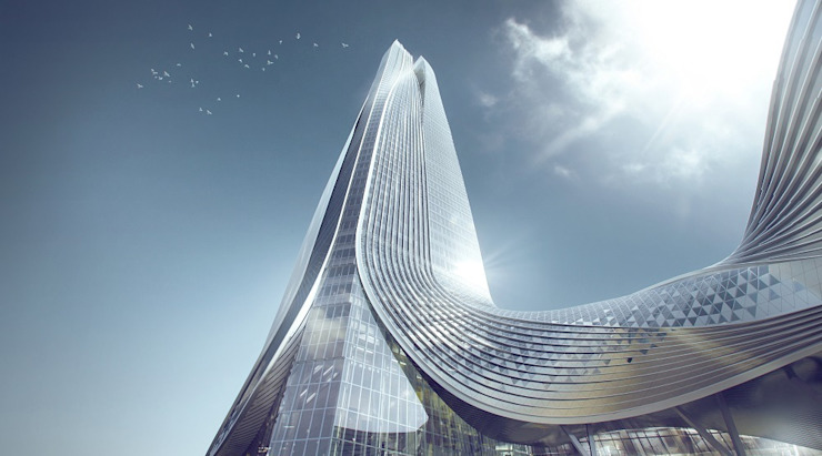 Hengqin International Financial Center by Architecture by Aedas