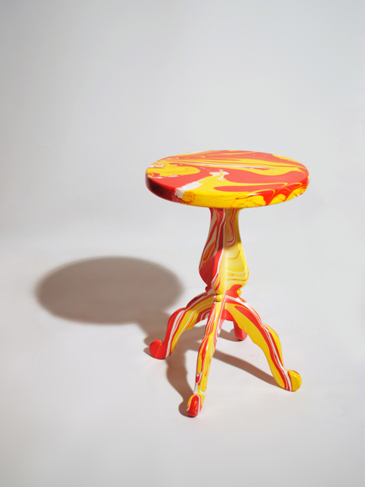 Swirling Stool by METAFAUX DESIGN