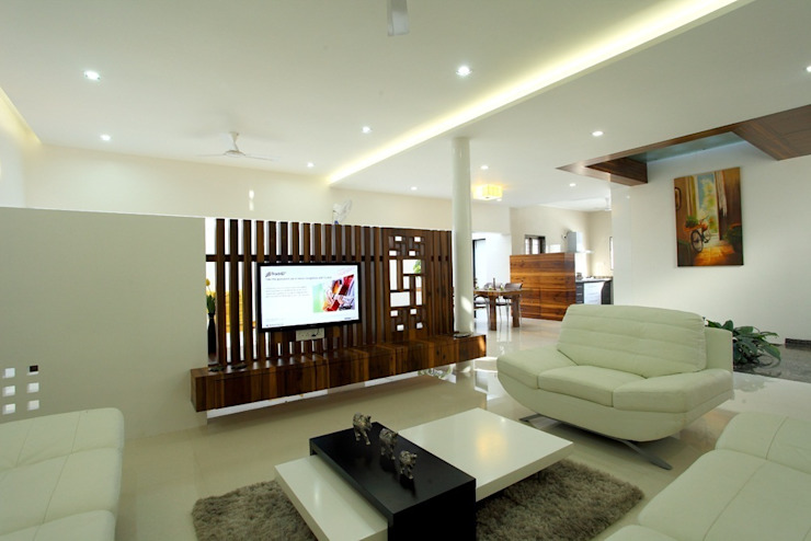 sheetal chayya residence Modern houses by manoj bhandari architects Modern