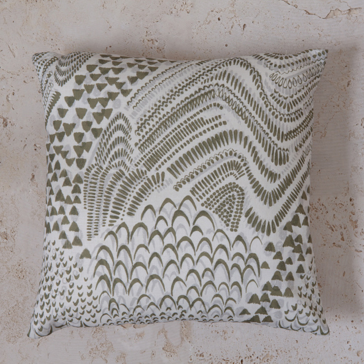 linen starling print cushion: modern  by Fate London, Modern