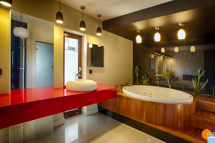 Modern style bathrooms by Studio Projektowe Projektive Modern