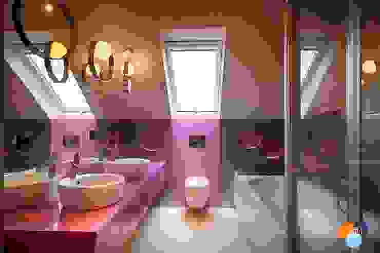Moderne Badezimmer von Studio Projektowe Projektive Modern