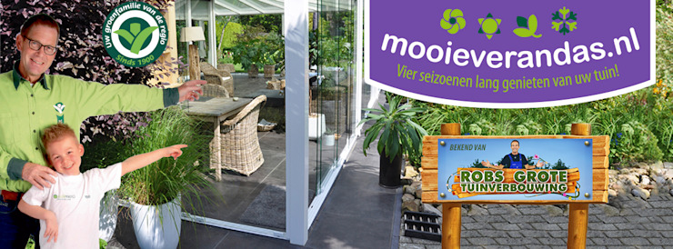 Mooieverandas.nl grootste veranda dealer van Nederland: modern  door Mooieverandas.nl , Modern
