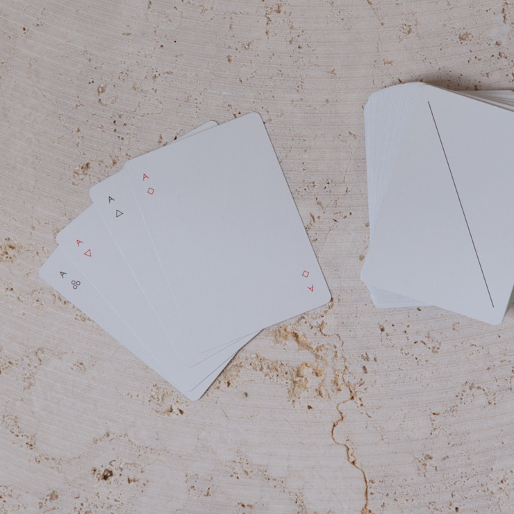contemporary playing cards van Fate London Minimalistisch